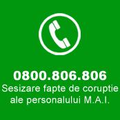 SESIZARI FAPTE DE CORUPTIE ALE PERSONALULUI M.A.I.